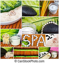 Spa collage - Beautiful conceptual images