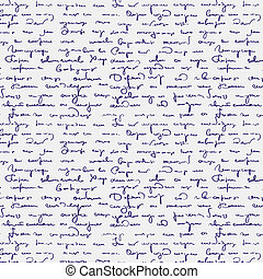 Seamless abstract handwritten text