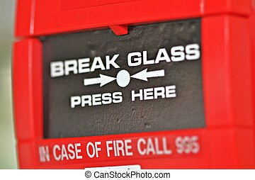 Fire alarm - Close photo of a fire detection system alarm's...