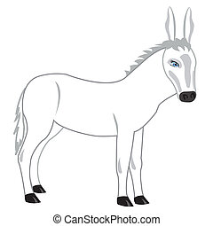Drawing of the burro on white background