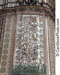 Orvieto - Duomo facade The second pillar--the Messianic...