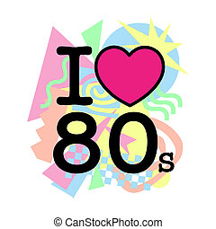 I love 80's old style with differents colored geometric...