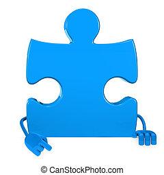 puzzle figure point