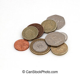 British uk currency against a plain white background