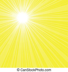 bright sun rays background - Abstract bright yellow sun...