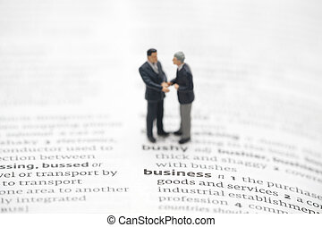 Business definition in a dictionary