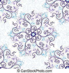 White-blue seamless pattern - Gentle white-blue seamless...