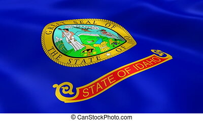 Idahoan flag in the wind