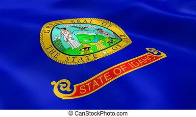 Idahoan flag in the wind
