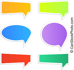 Speech icons - Set of different colorful web speech icons