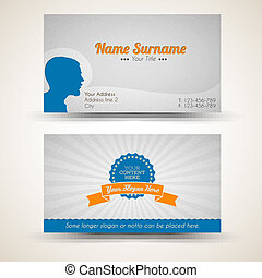 Vector old-style retro vintage business card