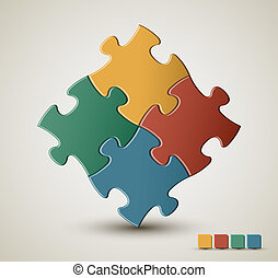 Vector puzzle / solution background - Abstract vector puzzle...