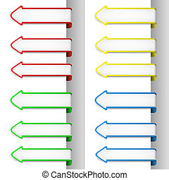 Colorful pointing arrows 2
