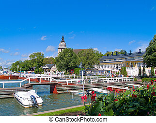 harbor at Naantali, Finland - harbor at city center...