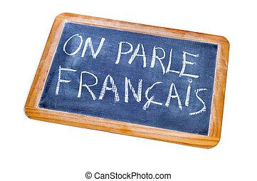 french is spoken - sentence french is spoken written in...