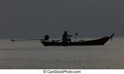 fishing boat and the sea