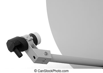 Satellite Dish - Satellite Dish isolated on a white...