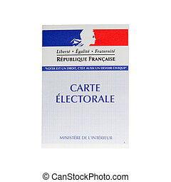 French electoral card - details of a french electoral card...