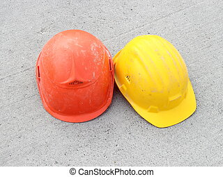 Two hard hats