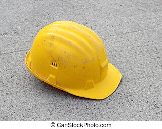 Hard hat on concrete