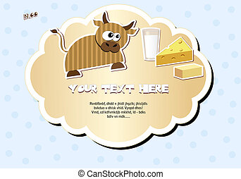 label with cow
