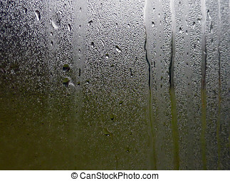 Water patterns on window - Water drops on steamed up window...