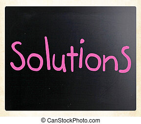 Solutions written with chalk