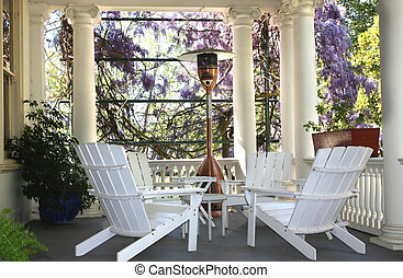 House Porch - Beautiful setting in outdoor house porch