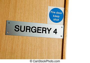 Surgery sign