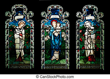 Stained glass window - collection of stained glass window...