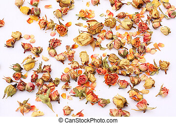Dry roses beautiful background - Dry roses background on...