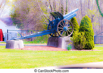 VFW Cannon - A monument of an old war cannon.