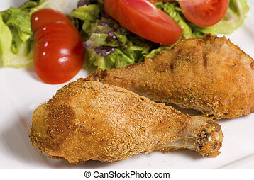 Drumsticks - Fried chicken drumsticks served with fresh...