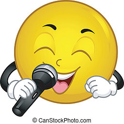 Singing Smiley - Illustration of a Singing Smiley