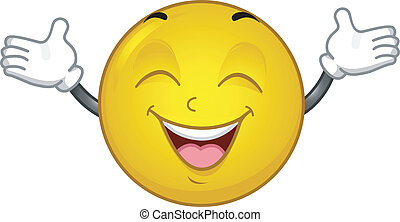 Happy Smiley - Illustration of an Extremely Happy Smiley