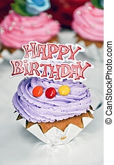 Happy birthday cakes - small happy birthday cakes with candy