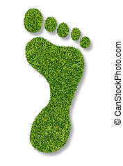 Carbon Footprint - Carbon footprint or gardening symbol with...