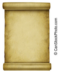 Blank Scroll - Blank scroll on ancient parchment paper...