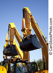 Pair Of Excavators