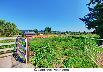 American private farm land with gates - Beautiful private...