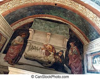 Orvieto, -, Duomo, interior, Cappella, Nova, o, San, Brizio