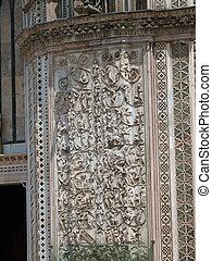 Orvieto - Duomo facade. The second pillar--the Messianic...