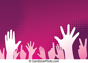 clubbing people vector illustration