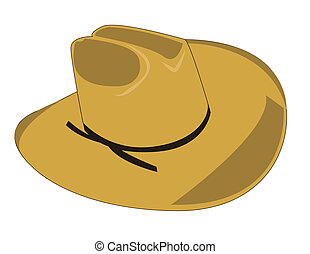 cowboy hat - Illustration of a cowboy hat