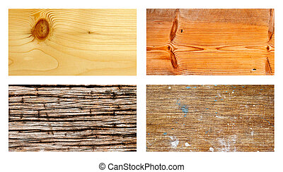 Collection of grunge wood for background