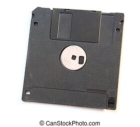 diskette - black disk isolated on white background