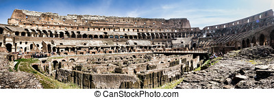 Colosseum in Rome, Italy - The ancient Colosseum in Rome,...