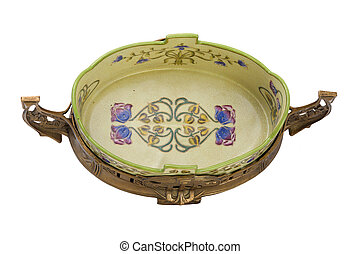 Antique porcelain dish in modern style.