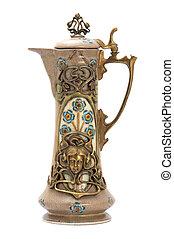 Antique porcelain jar in modern style.