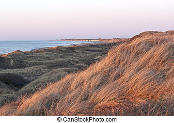 Sunset at the Danish West Coast - Sunset at the Danish west...